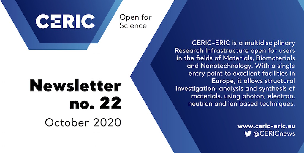 Banner CERIC newsletter no. 22 / October 2020